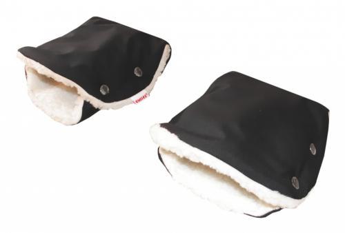 Emitex Rukávník ke kočárku/rukavice SOFT + kožich beránek