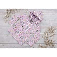 Sparrow Softshellová bunda s fleecem Růžová+Koník