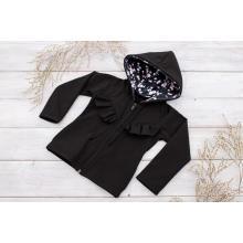 Sparrow Softshellová bunda s fleecem Černá+Kanýrek