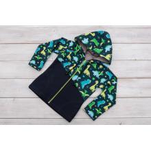 Sparrow Softshellová bunda s fleecem Dinosauři přestřižená