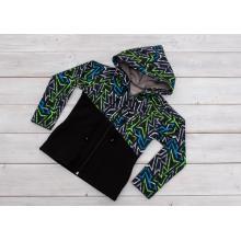Sparrow Softshellová bunda bez zateplení Grafity+zelená