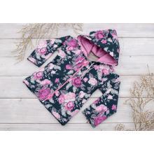 Sparrow Softshellová bunda s fleecem Černá+Růže