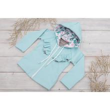 Sparrow Softshellová bunda bez zateplení Světlá tyrkys+kanýrek