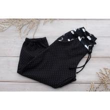 Sparrow Softshellové kalhoty s fleecem Černé+Labutě