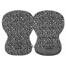 Emitex unipodložka Moby bavlna stříbrné kytky