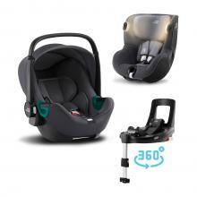 Set Britax Römer Autosedačka Baby-Safe 3 i-Size+Flex Base iSense+Autosedačka Dualfix iSense