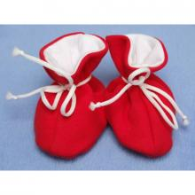 Esito Kojenecké botičky bavlna velké jednobarevné červené