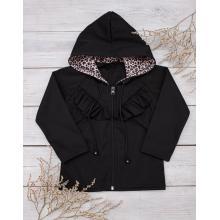 Sparrow Softshellová bunda s fleecem Černá+Gepard