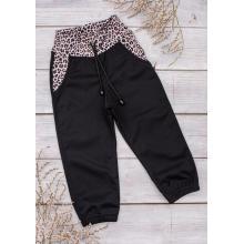 Sparrow Softshellové kalhoty s fleecem Černé+Gepard