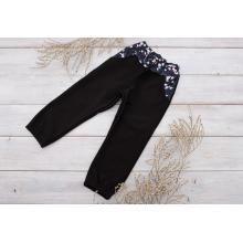 Sparrow Softshellové kalhoty s fleecem Černé+Květy