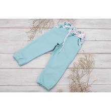 Sparrow Softshellové kalhoty bez zateplení Světlé tyrkysové+Květy