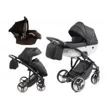 Kočárek Junama Mirror Satin 3v1 s autosedačkou BabySchild TopLine 2021