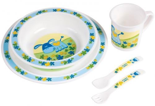 Canpol babies plastová sada nádobí Happy Animals