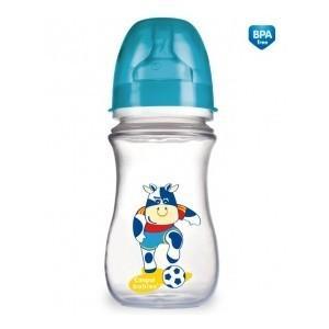 Canpol Babies láhev se širokým hrdlem s potiskem Fotbal 240 ml