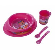 Canpol babies plastová sada nádobí holčička /Piráti