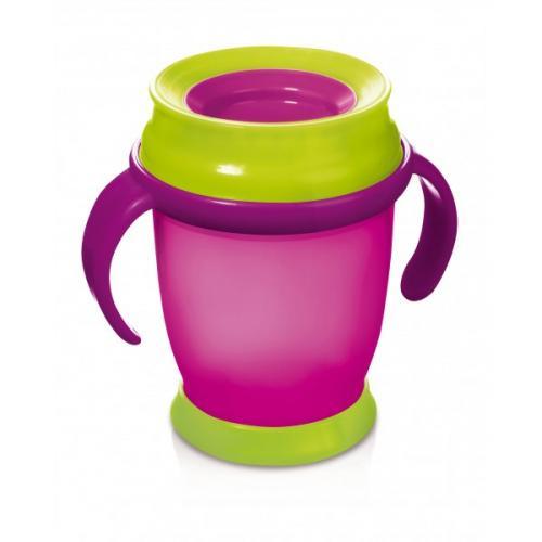 LOVI nevylévací hrníček 360° MINI 210 ml s úchyty bez BPA