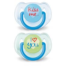 Philips Avent dudlík s textem I love you 6-18m, 2 ks