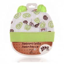 Kikko čepička XKKO BMB Spirals&Bubbles Lime Spirals