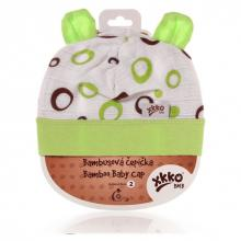 Kikko čepička XKKO BMB Spirals&Bubbles Lime Bubbles