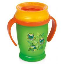 LOVI nevylévací hrníček 360° JUNIOR FOLKY 250 ml s úchyty bez BPA