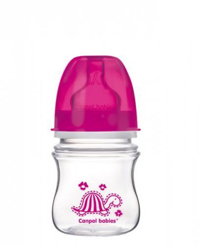 Canpol babies láhev se širokým hrdlem EasyStart Colourful Animals 120 ml 3m+