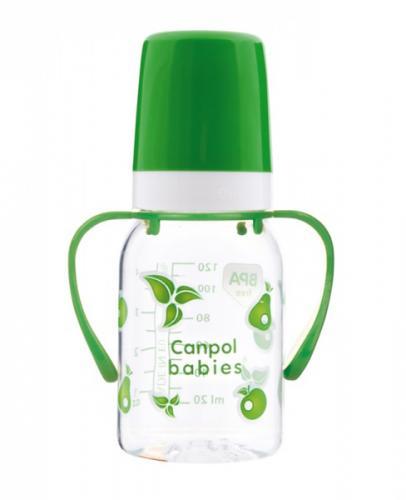 Canpol babies láhev s jednobarevným potiskem a úchyty 120 ml