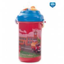 Canpol babies cestovní sklenička s víčkem a slámkou Auta