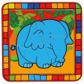 Bino puzzle 4 dílky - zvířata