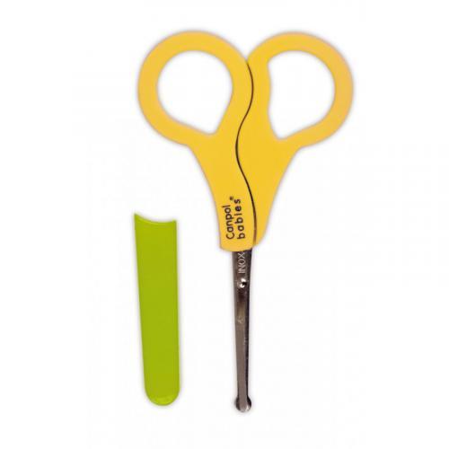 Canpol babies nůžky s kulatou špičkou a krytem