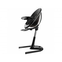 Jídelní židlička Mima Moon 2G Chrom + opěrka nohou