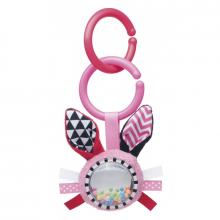 Canpol babies Šustící plyšová hračka s chrastítkem Zig Zag králík